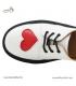 کفش چرم میکل Micle (سفید قلب دار)