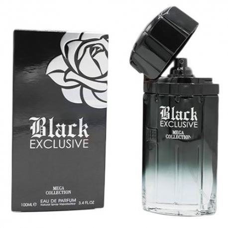 عطر مردانه مدل MEGA COLLECTION BLACK EXCLUSIVE 100ML