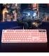 کیبورد گیمینگ به همراه ماوس حرفه ای مدل Pink Mechanical Gaming