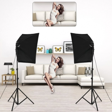 کیت روشنایی Andoer Photo Studio Lighting همراه با 2pcs Softbox