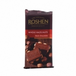 شکلات فندقی ROSHEN dark chocolate