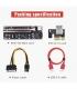 رایزر 8 خازن تبدیل گرافیک PCI EXPRESS X1 به X16 مدل 009S Plus GOLD پایدارترین رایزر 009S