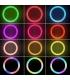 نور ثابت (رینگ لایت) 10 اینچی RGB با سه پایه حرفه ای HQ-10