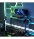 میز گیمینگ با چراغ RGB رنگارنگ EUREKA ERGONOMIC Gaming Computer Desk 44' Design with RGB LED Lights
