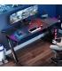 میز گیمینگ با چراغ RGB رنگارنگ EUREKA ERGONOMIC Z60 Gaming Desk 60'' Z with RGB LED Lights Mouse Pad for E-Sport Racing
