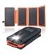 پاوربانک خورشیدی با ظرفیت 20000 میلیآمپری Eshine 20000mAh   همراه با 4 پنل خورشیدی مدل 820S